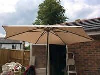 Large 2metre fabric garden parasol/umbrella