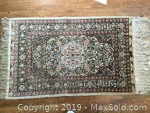 Signed Original Silk Turkish Rug With Appraisal