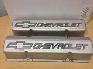 GM PERFORMANCE PARTS CHEVROLET SMALL BLOCK TALL ALUMINUM VALVE COVERS 10185064