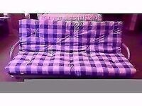 EXCELLENT CONDITION NEW! futon sofa bed, metal frame, easy fold down