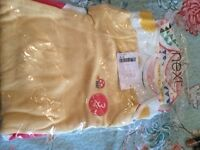 Next 6-9 month Short Sleeve Baby Vests - Brand new with tags and packaging intact.
