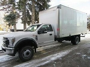 2018 Ford F-550 2WD DIESEL WITH CUSTOM 17 FT ALUM BOX