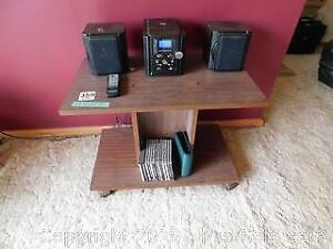 Compact Stereo, CDS, And Stand A
