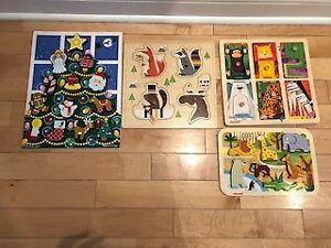 4 Wooden Puzzles - Melissa & Doug, Hudson's Bay, Janod