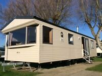 static caravan for rent on holiday park {Littlesea Weymouth)