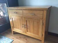 Solid Oak Sideboard - 2 door/2 drawer