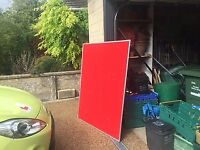 Large Red Pin Board / Notice Board
