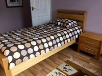 Bensons hip hop Single Bed with mattress and matching bedside cabinet. Excellent condition.