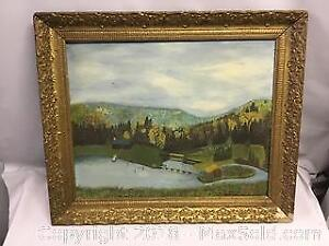 Original Signed Dixon Antique Oil Painting