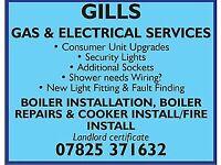Plumber gas safe electrician