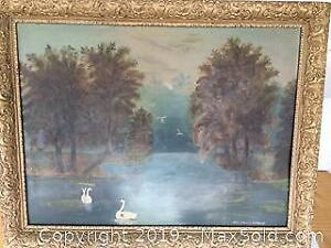 Antique Framed Original Painting