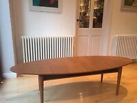 Large Ikea Retro Mid-Century/Danish inspired Stockholm coffee table in good used condition.