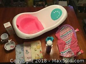 Fisher Price 4 In 1 Seat Tub And Hello Kitty Dish