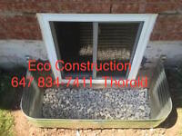 SMALL BASEMENT WINDOW ENLARGE to CUSTOM ESCAPE EGRESS