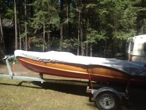 Classic Elgin all wood 13 ft. boat and EZ Loader trailer