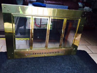 Fireplace screen with brass frame and glass doors - $40 O.B.O.