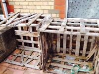 2 Large Wooden Pallets With Sides