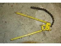 Chain cutter for 100 & 150mm diameter clay pipes