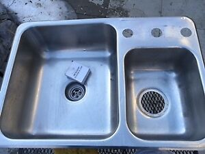 Double Kitchen sink Stainless steel Top Mount 18X26