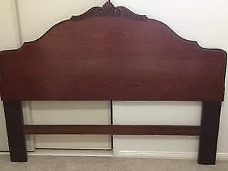 Rosewood timber bed head (Queen size)