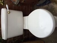 Bathroom/ showeroom toilet, sink, corner shower screen and Triton Aspirante shower and more...