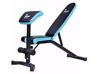 Mens Health Training Bench with Attachment & Dumbells/Weights BRAND NEW