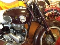 Ariel NH 350cc 1957 restored mostly restored few little jobs left many new parts fitted.