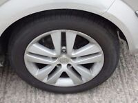 """vauxhall 17"""" alloy wheels inc tyres set of px possible ring for details"""