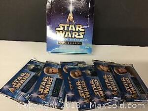 7 Packs of Star Wars Attack of Clones cards