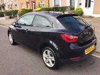 2010 SEAT IBIZA 1.6 TDI CR Sport 3dr (Black)***EXCELLENT CONDITION & DRIVES SPOT ON