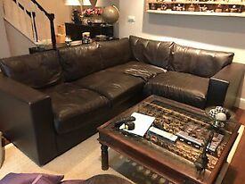 Sectional leather sofa