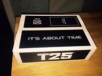 BRAND NEW FOCUS T25 SET WORKOUT SET. BRAND NEW SEALED WITH BANDS AND ALL 10 DISCS!