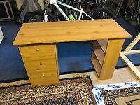 Pine effect desk