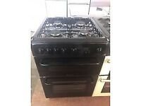 BLACK 60CM HOTPOINT GAS COOKER