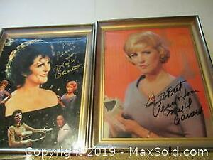 Star Trek Collectors Special. Two Signed Autographed Pictures Of Majel Barret. The First Lady Of Star Trek.