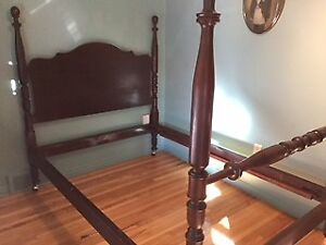 Solid  wood 4 poster bed