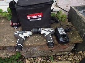 Makita Cordless drill and impact driver set hardly used
