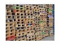 good wooden pallets £3 per pallet can deliver
