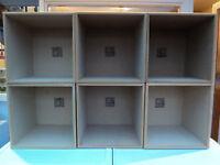 6 x VINYL STORAGE BOXES - SPYBOX - TOP QUALITY (£150 NEW)