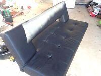 Dwell black vinyl sofa bed