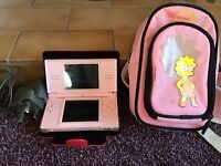 Pink DS console and games