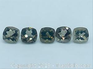 Five 30.415 ct tcw Smoky Quartzes