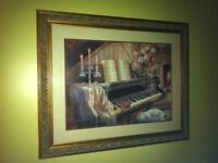 Piano wall pictures