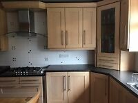 Light oak finish complete kitchen with appliances