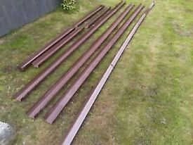 Marley Flowline Guttering, Downpipes and fittings in brown (used)