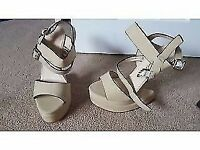 Curved Wedge Strappy Sandals Brand new never worn size3