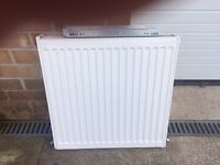 Chrome towel radiator and 600mm Double.