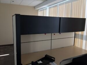 Office desks, chairs, hutches, cabinets, printers, etc.