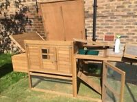 Manison Rabbit Hutch with attached run for Sale near Maidstone - Collection only