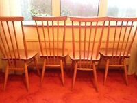 4 ercol dining chairs RELISTED
